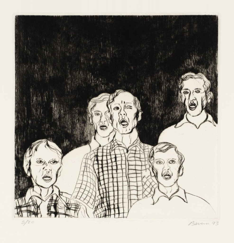 Group with Dark Background 1993 by Tony Bevan born 1951